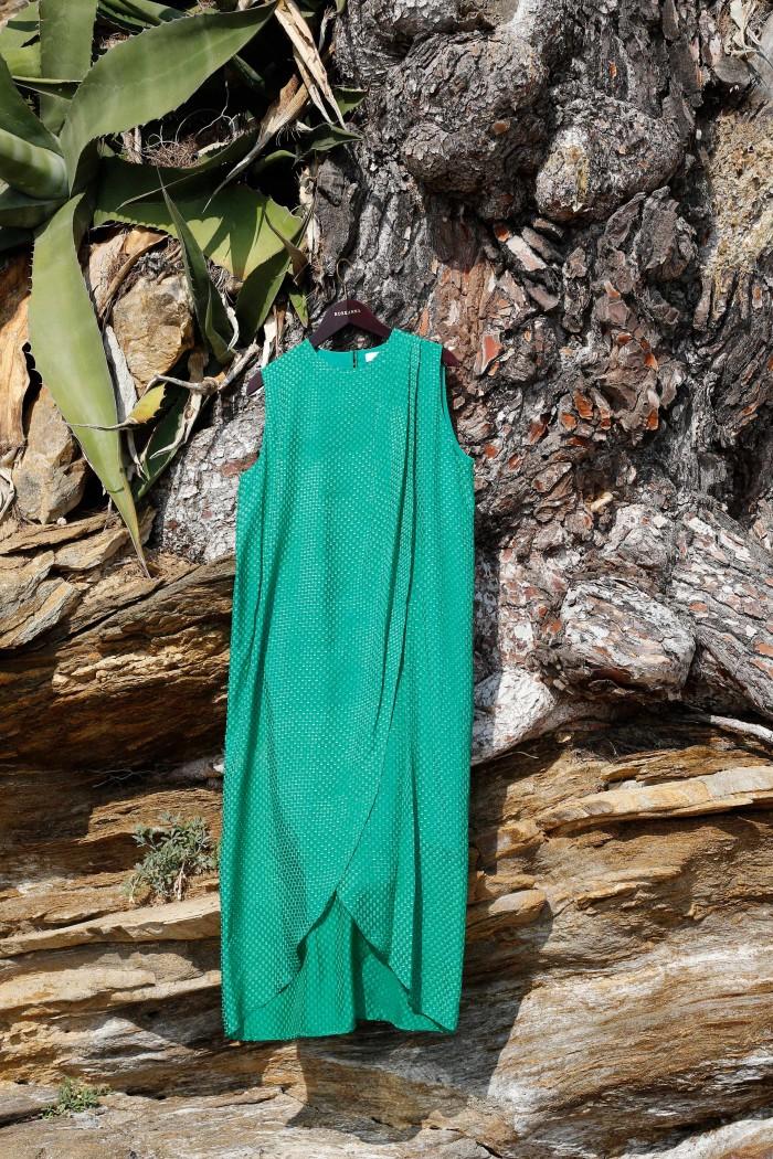 Cut Yarn Around Dress