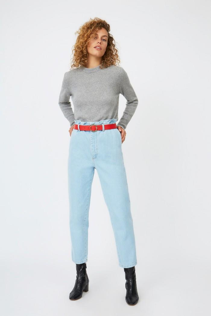 Denim Face Jeans