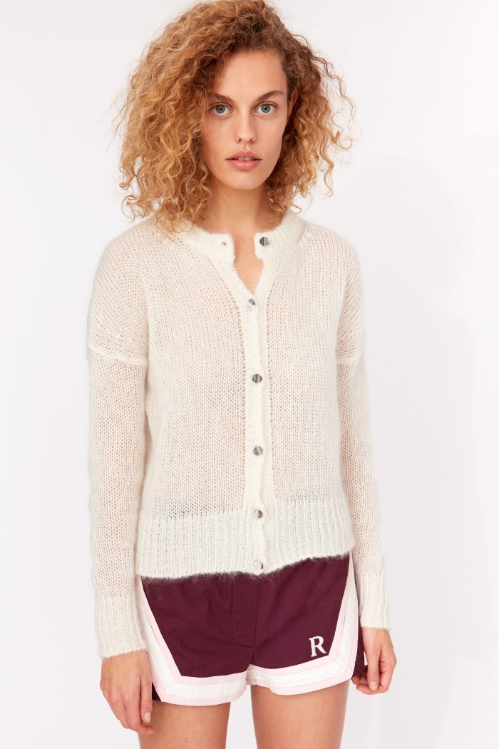Maille gilet Divine Light mohair - maille